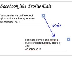 FaceBook Like profile edit with Jquery