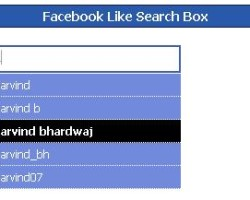 FaceBook Like Search-Box with Jquery