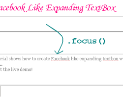 Facebook Like Expanding TextBox with Jquery