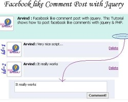 FaceBook Like comment post with Jquery