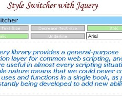 Text style-switcher with Jquery