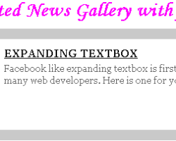 Animated News Gallery with jQuery & CSS