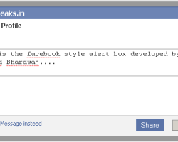 Facebook Like Alert/Popup Box with Jquery & CSS