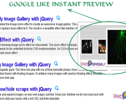 Google like Instant Preview using jQuery & base64 Image Encoding in PHP