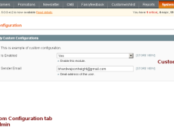 Creating Custom Configuration Options in Magento Admin