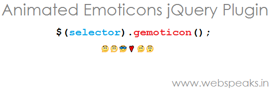 Gmail Style Animated Emoticons jQuery Plugin