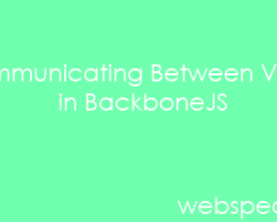 Communicating between views in BackboneJS