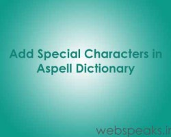 Adding Special Characters in Aspell Dictionary for PHP