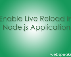 Enable Live Reload in Node.js Application