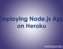 Deploying Node.js app on Heroku